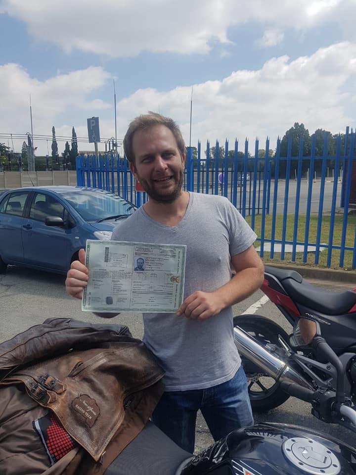 Motorbike test pass Randburg